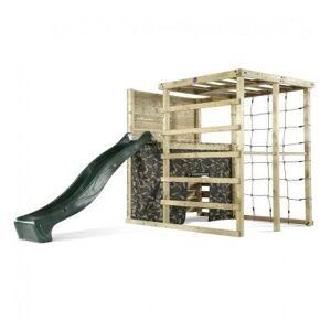 Plum Climbing Cube Wooden Play Centre with Climbing Wall, Den & Slide