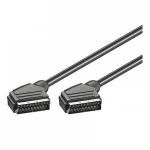 Wentronic 11709-GB 3.0m 21 Pin SCART Plug to SCART Plug Cable