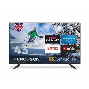 FERGUSON 43 INCH 4K ULTRA HD LED SMART TV WITH WIFI, 3 X HDMI, USB RECORDING. NETFLIX, PRIME, YOUTUBE, CATCH UP TV - BRITISH MANUFACTURER - F43RTS4K