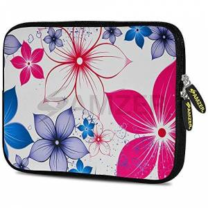 Amzer Five Petals Bloom Design Neoprene Soft Sleeve for Up to 10.5 inch Tablet