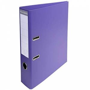 Exacompta Prem'Touch PVC Lever Arch File, 70mm spine, 2 Ring, A4 - Dark Purple