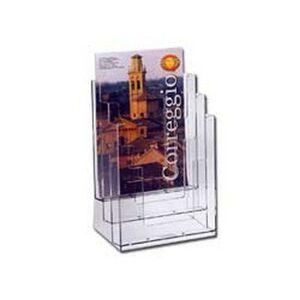 LEBEZ folding folder in transparent polystyrene 23x33x14cm art. 5024