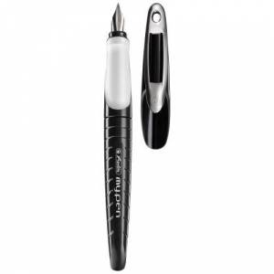 Herlitz My.Pen L-Nib Fountain Pen - Black/White