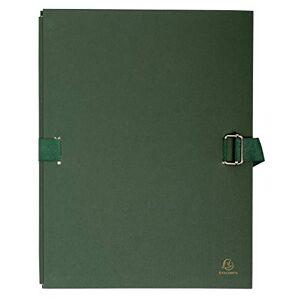 Exacompta Expandable Canvas Folder, A4 - Dark Green