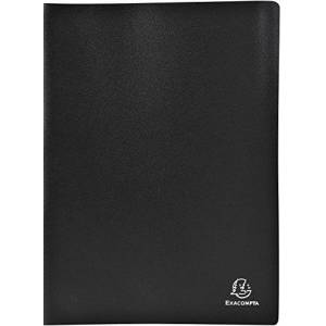 Exacompta Soft PP Display Book, A4, 20 Pockets - Black
