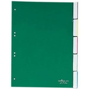 DURABLE 6220 Plastic Index Polypropylene; Thickness 0,12 MM 5-Piece
