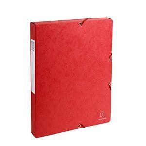 Exacompta Pressboard Filing Box, 600 gsm, 25 mm Spine, A4 - Red