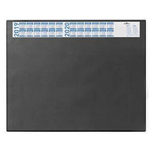 Durable 720401 Desk Mat with Annual Calendar and Anti Glare Overlay, 65 x 52 cm - Black