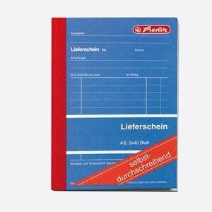 Herlitz Lieferschein A6202, Carbonless, 2x 40Sheets