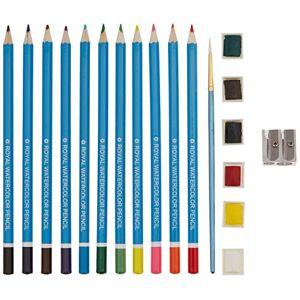Royal & Langnickel Royal Brush Clamshell Art Sets Watercolor Pencils 19-Piece