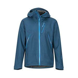 Marmot Men's Knife Edge Hardshell Rain Jacket, Raincoat, Windproof, Waterproof, Breathable, Denim, XL
