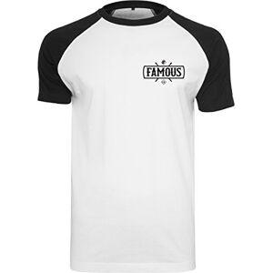 Famous Stars & Straps Famous Stars and Straps Men's Chaos Patch Raglan Tee T-Shirt, Wht/Blk, M