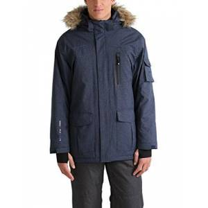 Ultrasport Men's Finley Soft Shell Parka, Blue Navy, Small
