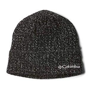 Columbia Unisex Beanie, Watch Cap, Black (White Marled), One Size