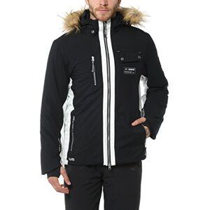 Ultrasport Men's Functional Alpine Outdoor Softshell Jacket Snowfox with Ultraflow 8.000 - High Comfort and Agile Fur Hood Winter Sport Jacket with Inner Storage Pockets , Black, 2XL