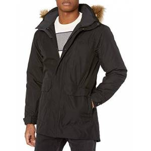 Helly Hansen Dubliner Parka-Mens Winter Jacket with Faux Fur Hood, Warm, Comfortable Fabrics and Classic Urban Design, Black, X-Large (44-47 Inch)