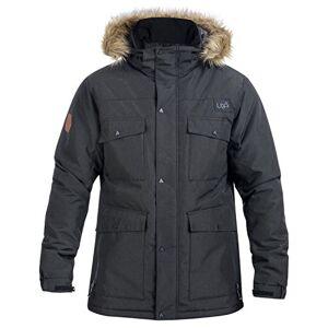 Urban Beach Men's Parka, Ski Snowboard Jacket, Waterproof, Breathable with Faux Fur Hood, Varda Black, Small