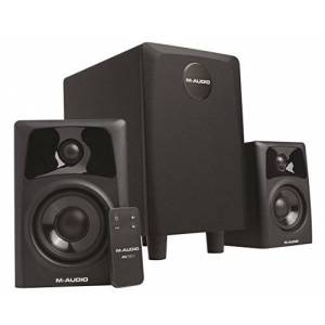 M-Audio AV32.1   Compact Active Desktop Reference Speakers (Pair) with Subwoofer for Superior Sound, Perfect for Professional Media Creation and an Immersive Gaming Experience