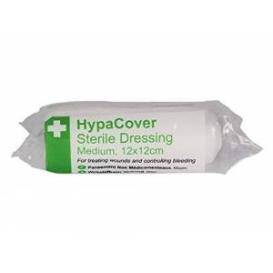 Safety First Aid Group HypaCover Sterile Dressing Bandage - Medium 12 x 12cm (Pack of 6)