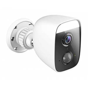 D-Link DCS-8627LH mydlink Full HD Outdoor Wi-Fi Spotlight Camera with 400-Lumen Spotlight, Colour Night Vision, AI-Based Motion/Sound Detection, 90 dB Siren, SD/Cloud Video Recording, White