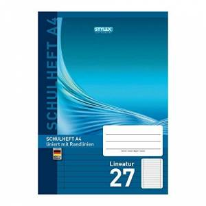 Stylex A4 Exercise Book with Lineatur 27 Pattern