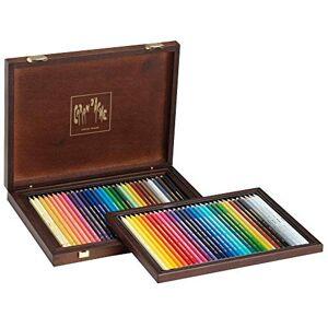 Caran d'Ache Wooden Case with 30 Supracolor Soft + 30 Pablo Pens