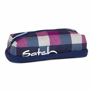 SATCH Berry Carry Pencil Cases, 22 cm, Blue (Karo Lila Blau)
