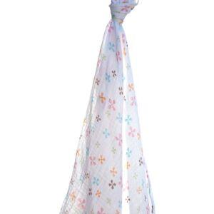 Angel Dear Muslin Swaddling Blanket (Owl Floral)