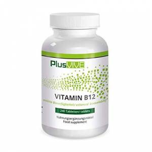 Plusvive Highly Dosed Vitamin B12 tablets with Enhanced Bioavailability