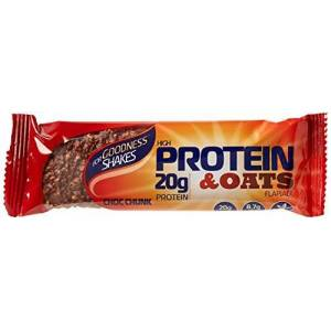 For Goodness Shakes Protein & Oats Chocolate Bar, 75g - Pack of 12