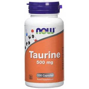 Now Foods Taurine Supplement Capsules, 500 mg, 100-Count