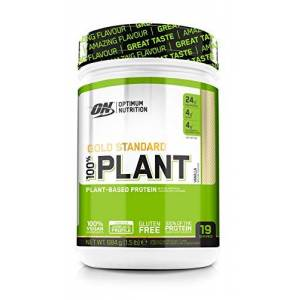 Optimum Nutrition Gold Standard 100 Percent Plant Vegan and Gluten Free Protein Powder with Vitamin B12, Essential Amino Acids, Natural Occurring BCAAs and Glutamine, Vanilla, 19 Servings, 684g