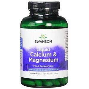 Swanson Liquid Calcium & Magnesium 100 Softgels