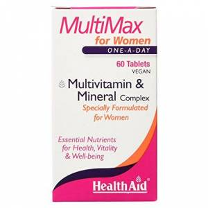HealthAid Multi-Max for Women Multivitamins and Minerals, 60 Vegan Tablets
