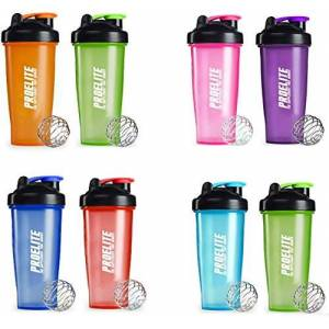Proelite Gym/Sports Supplement Shaker Bottle V3 Duo Pack, Ice Blue/Red