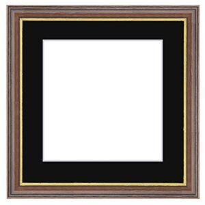 Framecraft Bath Photo Frames, Wood, Walnut, 300 x 300