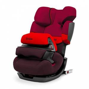 CYBEX Silver Pallas-Fix 2-in-1 Child's Car Seat, For Cars with and without ISOFIX, Group 1/2/3 (9-36 kg), From approx. 9 Months to approx. 12 Years, Rumba Red