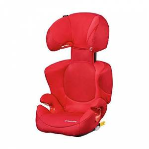 Maxi-Cosi Rodi XP FIX Child Car Seat, ISOFIX Booster Car Seat, Lightweight, 3.5-12 Years, 15-36 kg, Poppy Red
