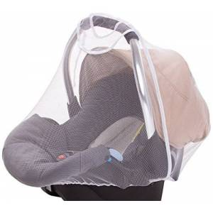 DIAGO Mosquito Net Baby Car Seat (White)