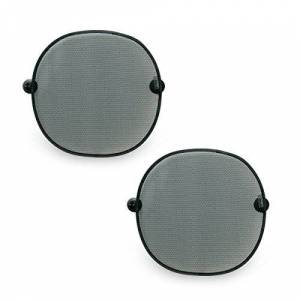 Hauck Cloud Me 2 Car Window Shades, Rear Side Window Sun Shade with Suction Cups, Grey, Pack of 2