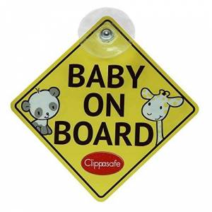 Clippasafe Baby and Child On Board Sign