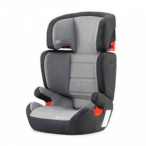 kk Kinderkraft Car Seat Junior FIX, Booster Child Seat, with Isofix, Adjustable Headrest, for Toddlers, Infant, Group 2/3, 15-36 Kg, Up to 12 Years, Safety Certificate ECE R44/04, Gray