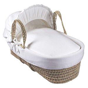 Clair de Lune Cotton Candy Palm Moses Basket, Cream