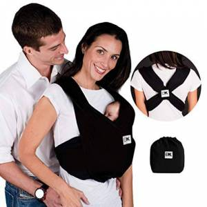 Baby K'tan Cotton Black Baby Carrier (Small)