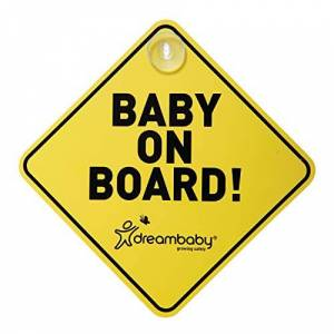 Dreambaby Baby On Board Sign (Yellow)