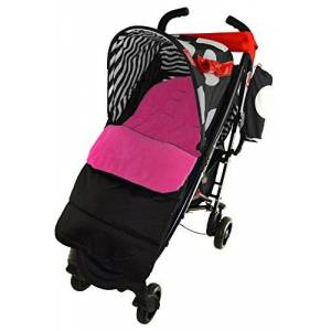 For-your-Little-One Footmuff/Cosy Toes Compatible with OBaby Tiny Tatty Teddy Pushchair Pink Rose