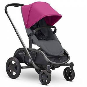 Quinny Hubb Mono XXL Shopping Pushchair, Large Storage Basket, Easy Fold Pushchair, 6 Months to 3.5 Years, Pink on Graphite