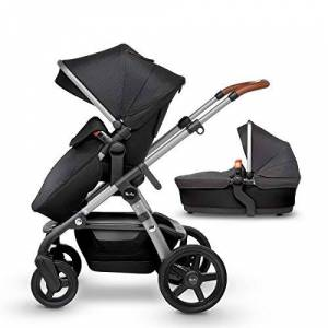 Silver Cross Wave Fully Adjustable 2-in-1 Tandem Baby Pram and Pushchair - Granite