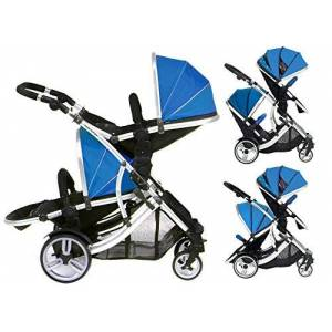 Kids Kargo Duellette 21 BS Twin Buggy with Changing Bag and Accessories, Raincovers and 2 Footmuffs Teal Mist