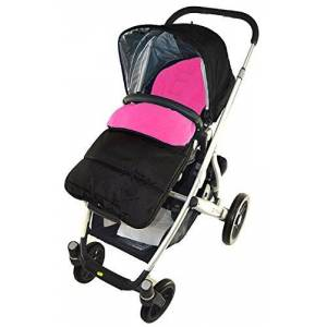 For-your-Little-One Footmuff/Cosy Toes Compatible with Mutsy Evo Pushchair Pink Rose